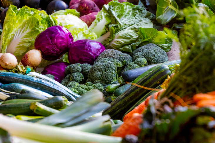 aim for five a day for fruits and vegetables