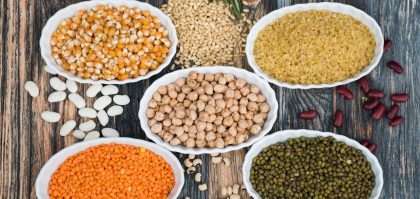 choose healthy carbs, like these lentils and legumes